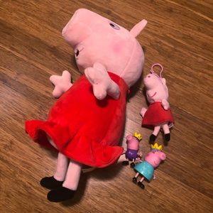 Peppa pig toy bundle. Glowing talking stuffed pig!